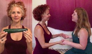 Pic from Caters News- (Pictured: Courtney Maria Halsted with a massage wand.) - A self-described vagina mystic witch is making a living teaching women how to use meditation to empower their lady parts - including lessons with massage wands. Courtney Maria Halsted, 31, was drawn into the world of witchcraft in her tender years and spent her early twenties studying yoni yoga with mystics in India. After returning to Melbourne she had a eureka moment to combine her two passions and prove the bedroom really can be a place where magic happens. Now, the sexual healer has carved a career teaching woman from far and wide how to harness the power of their pelvis with her unique practices. SEE CATERS COPY.