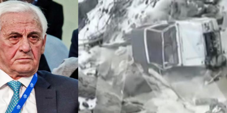Θεόδωρος Νιτσιάκος: Βίντεο-σοκ με το μοιραίο αυτοκίνητο του άτυχου επιχειρηματία αναποδογυρισμένο στον γκρεμό