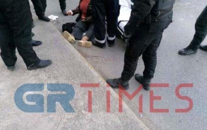 Θεσσαλονίκη: Γυναίκα παρασύρθηκε από μηχανή(Εικόνες)