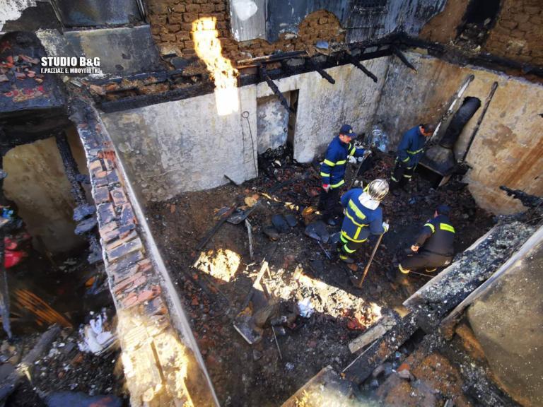 Αργολίδα: Νεκρά τα δύο αδέρφια από τη φωτιά στο σπίτι τους! Καταπλακώθηκαν από τη στέγη που έπεσε(Εικόνες&Βίντεο)