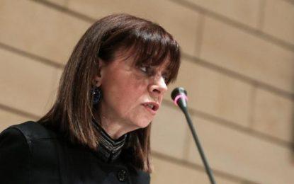 Αικατερίνη Σακελλαροπούλου: Στις 22 Ιανουαρίου η πρώτη ψηφοφορία για τον ΠτΔ