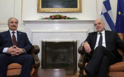 """Χάφταρ: """"Βόμβα"""" από Δένδια! """"Είμαστε έτοιμοι να στείλουμε δυνάμεις στη Λιβύη""""(Εικόνες&Βίντεο)"""