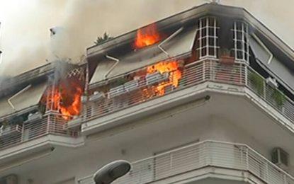 Mεγάλη Φωτιά τώρα σε διαμέρισμα στη Θεσσαλονίκη (Βίντεο)