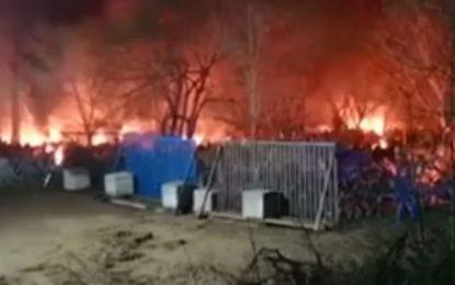 Καστανιές Έβρου: Βίντεο – ντοκουμέντο από τη φωτιά που άναψαν οι τουρκικές αρχές στα σύνορα