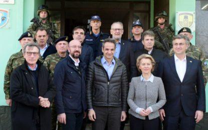Μήνυμα αλληλεγγύης της ΕΕ από τον Εβρο: Η Ελλάδα είναι η δική μας ευρωπαϊκή ασπίδα -700 εκατ. βοήθεια