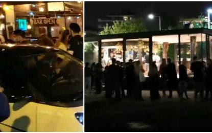 Ξανά συνωστισμός στην Θεσσαλονίκη για ένα ποτό… στο χέρι! Ουρές στη νέα παραλία για ένα κοκτέιλ(Βίντεο)