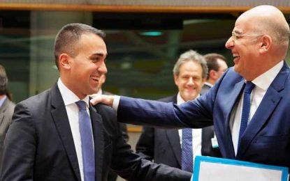 Συμφωνία για οριοθέτηση ΑΟΖ ανάμεσα σε Ελλάδα και Ιταλία υπογράφουν Δένδιας και Ντι Μάιο