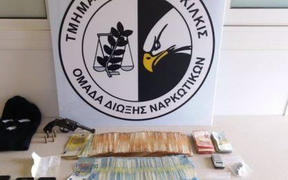 Δύο συλλήψεις για ναρκωτικά σε Θεσσαλονίκη και Πέλλα- Κατασχέθηκαν κοκαΐνη, περίστροφο και 31.000 ευρώ