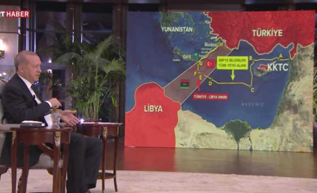 Προκλητικό σόου Ερντογάν με χάρτες και απειλές: Αν η Ελλάδα δεν μάθει τα όριά της…