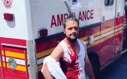 Χάρλεμ: Άνδρας περπατά ατάραχος με ένα μαχαίρι καρφωμένο στο κεφάλι