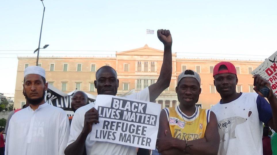 Συλλαλητήριο μεταναστών με τη στήριξη ΣΥΡΙΖΑ για ανοιχτά σύνορα