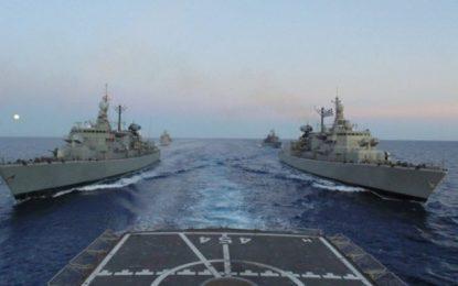 Καστελόριζο-Θερμό επεισόδιο: Πολεμικά πλοία καταπλέουν στην «θερμή» ζώνη του Αιγαίου