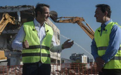 """""""Πάτησε"""" το κουμπί για τις κατεδαφίσεις στο Ελληνικό ο Μητσοτάκης: Ίσως το μεγαλύτερο έργο στη Μεσόγειο"""