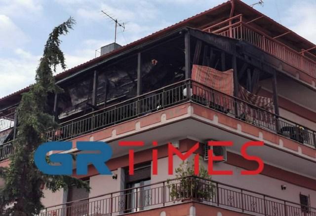 Θεσσαλονίκη: Φωτιά σε διαμέρισμα στις Συκιές (Βίντεο)