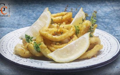 Καλαμαράκια τηγανητά από το Γιάννη Χαλκίδη