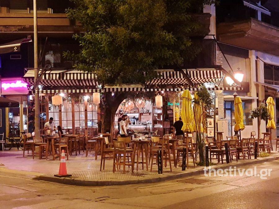 Κατέβασαν ρολά από τα μεσάνυχτα τα καταστήματα εστίασης στη Θεσσαλονίκη (Εικόνες)