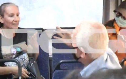 Αγριος καβγάς σε λεωφορείο του ΟΑΣΘ -«Δεν φοράω μάσκα, δεν υπάρχει κορωνοϊός»- «Τον κακό σου τον καιρό» (Βίντεο)