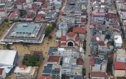 Σοκαριστικό βίντεο από την Καρδίτσα: Πλημμύρισε σχεδόν όλη η πόλη, εικόνες Αποκάλυψης λόγω «Ιανού» (Βίντεο)