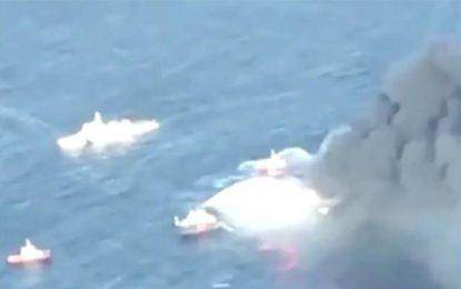 Ρυμουλκείται μακριά από τις ακτές της Σρι Λάνκα το φλεγόμενο τάνκερ – Πέντε Έλληνες στο πλήρωμα