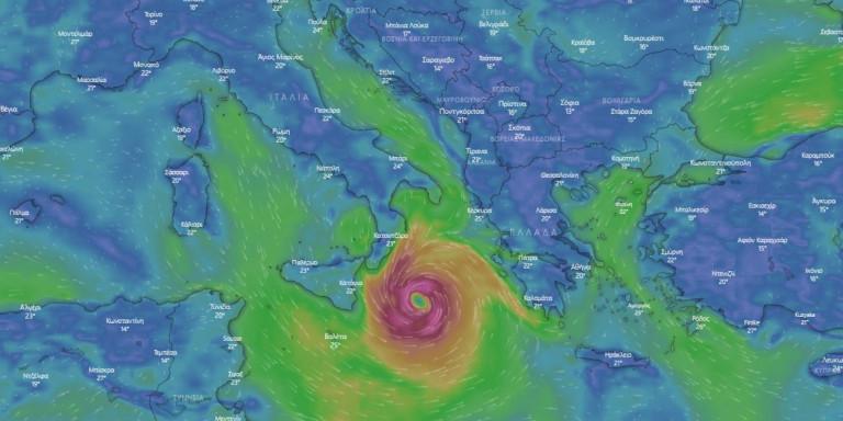 «Σπάνιο και ακραίο» φαινόμενο ο Μεσογειακός Κυκλώνας -Ποιες περιοχές θα χτυπήσει η κακοκαιρία Ιανός, σε συναγερμό οι Αρχές