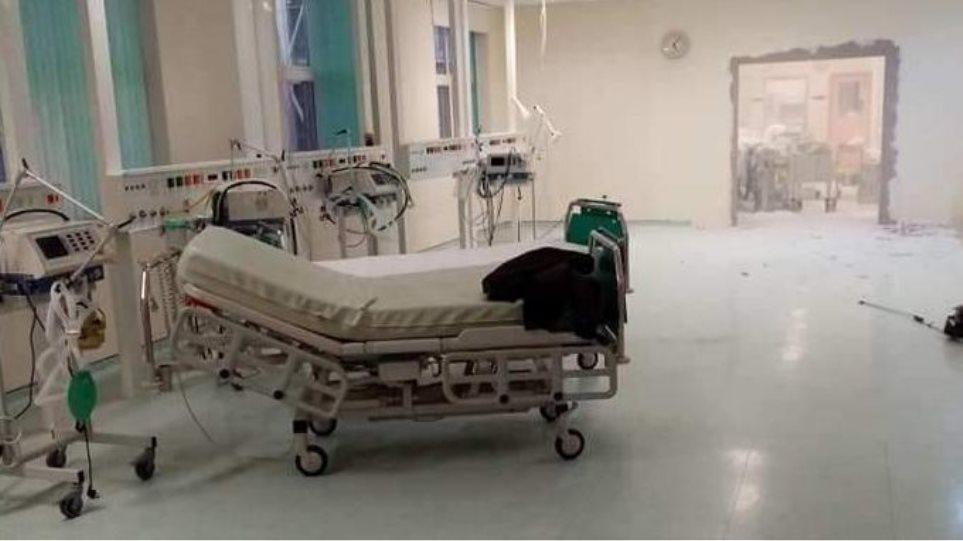Κορωνοϊός: Γκρεμίζουν τοίχους στο νοσοκομείο Αλεξανδρούπολης για να φτιάξουν κι άλλη ΜΕΘ