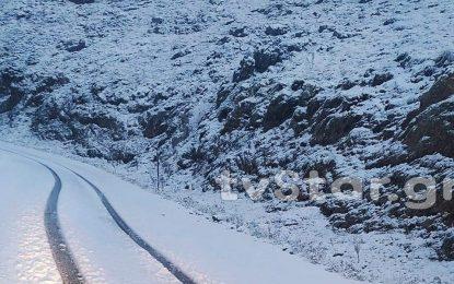 """""""Έπεσε"""" το πρώτο χιόνι σε Βελούχι και Παρνασσό (Εικόνες)"""