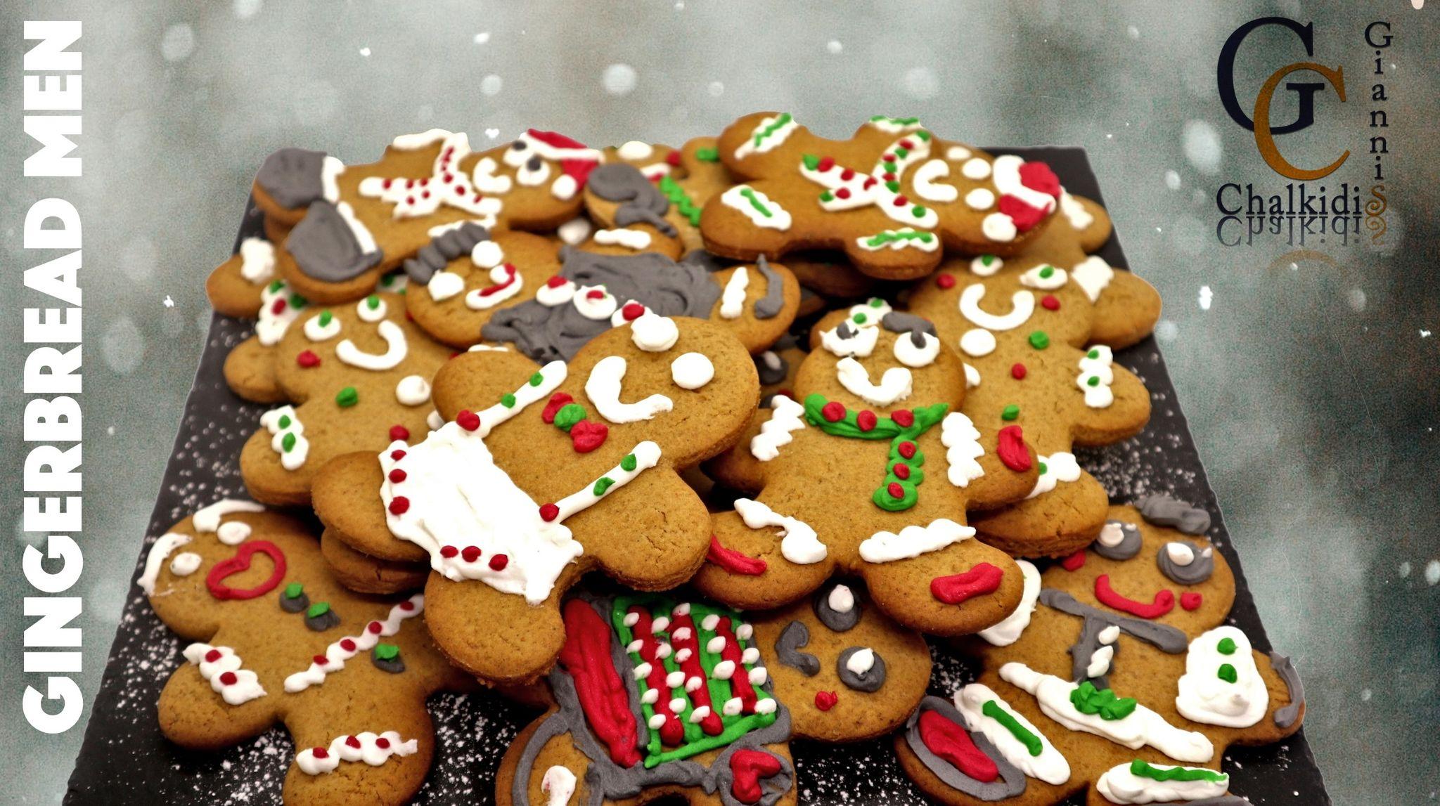 Υπέροχα μπισκότα Gingerbread men από το Γιάννη Χαλκίδη