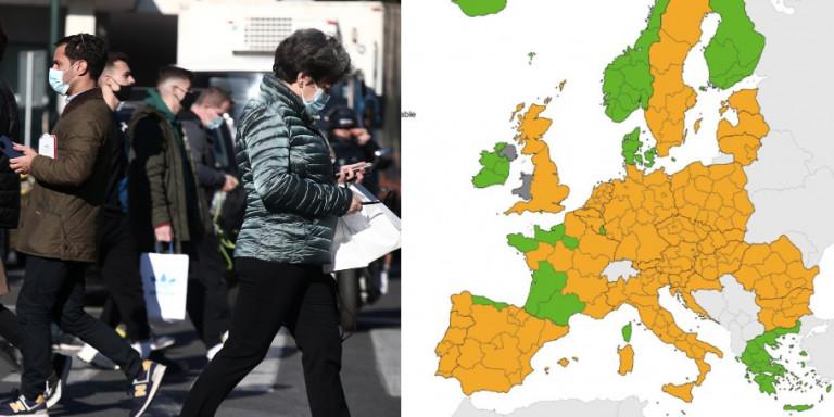 Κορωνοϊός: «Πράσινη» η Ελλάδα στον χάρτη θετικότητας του ECDC -Η πρώτη αχτίδα φωτός