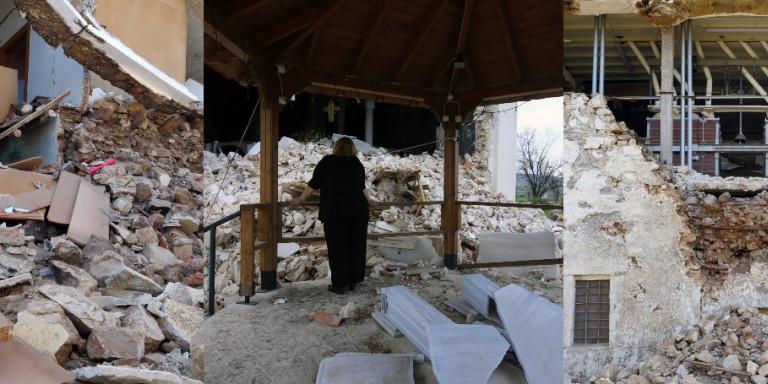 Σεισμός στην Ελασσόνα: Μετρούν τις πληγές τους οι κάτοικοι -Σημαντική καθίζηση εδάφους, μέχρι και 40 εκατοστά
