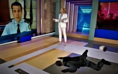 Τηλεοπτικός κατήφορος για την Τατιάνα: Eμφανίστηκε πλάι σε ομοίωμα του τραυματία αστυνομικού