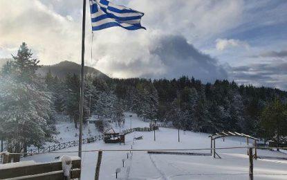 Πυκνή χιονόπτωση στην ορεινή Ξάνθη(Εικόνες)