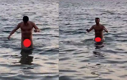Γκάφα μεγατόνων: Ο Χρανιώτης δημοσίευσε κατά λάθος βίντεό του να κολυμπάει ολόγυμνος
