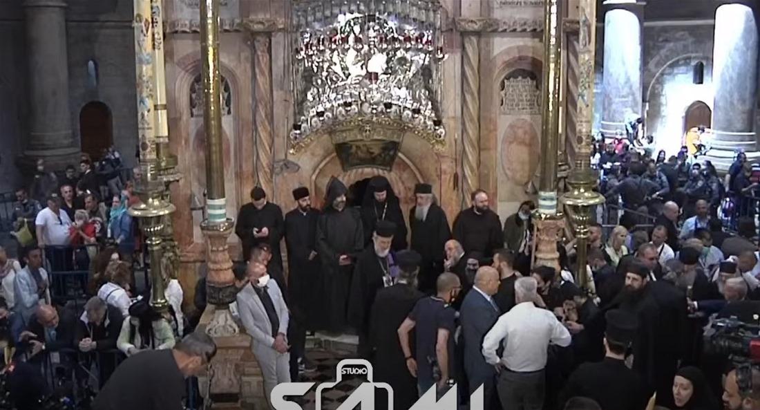 LIVE: Η τελετή αφής του Αγίου Φωτός στον Πανάγιο Τάφο